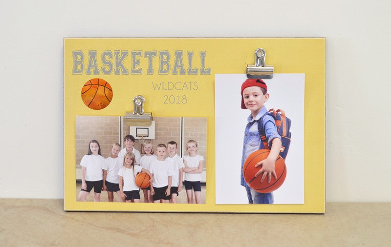 basketball photo frame - team and individual basketball sports photo display
