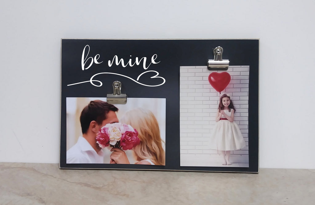 chalkboard valentines day decor be mine photo frame