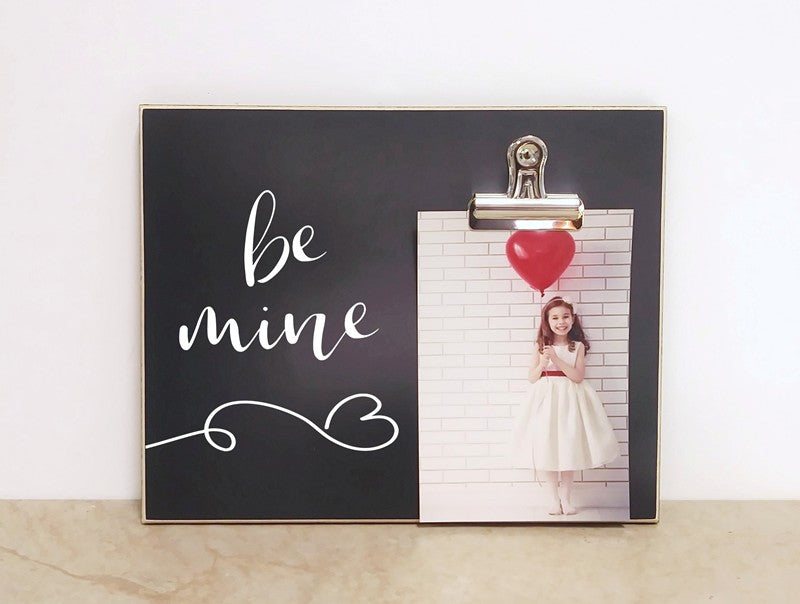 be mine chalkboard photo frame valentines day gift valentines decor