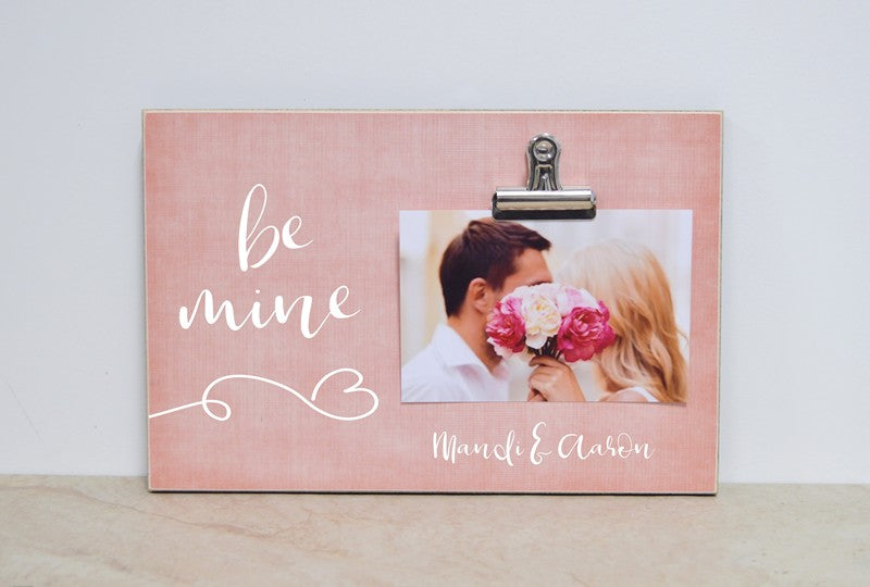 personalized valentines day decor be mine photo frame