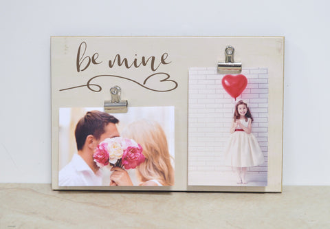 farmhouse decor , be mine photo frame valentines day decor