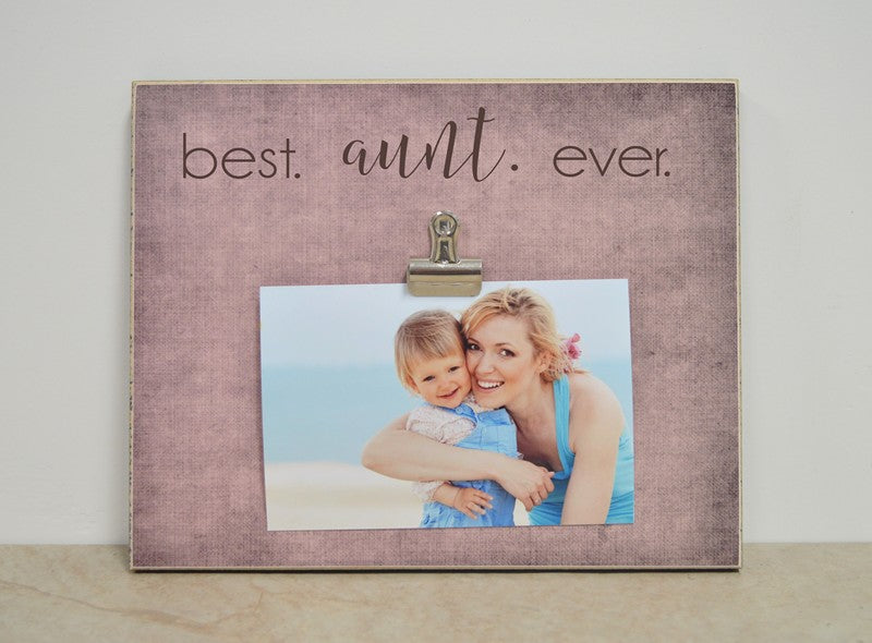 best aunt ever photo frame gift for auntie