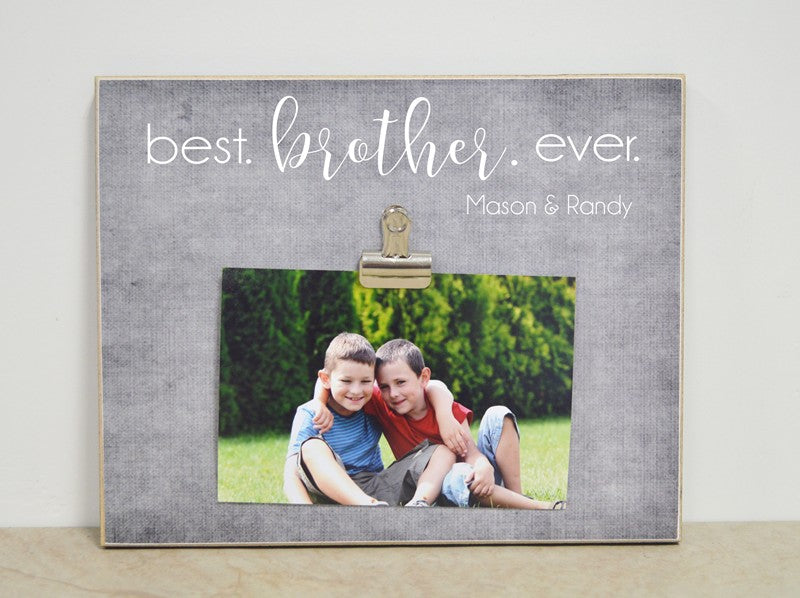 best brother ever photo frame gift for brother
