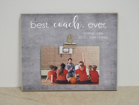 best coach ever photo frame thank you gift for coach