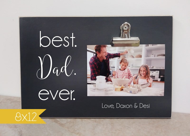Best. Bonus Dad. Ever. Personalized Picture Frame