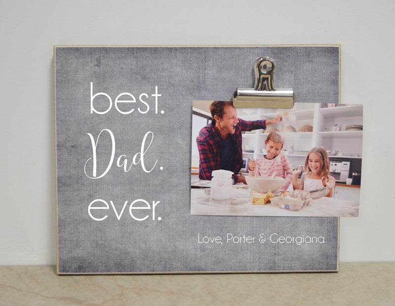 father's day gift for dad, best dad ever picture frame