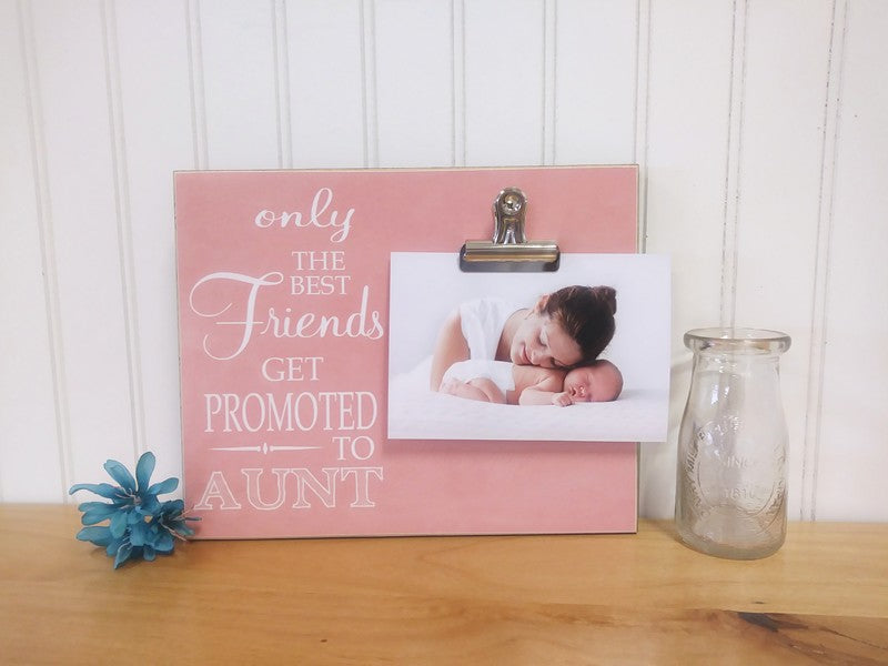 pregnancy reveal to best friend, auntie gift, honorary aunt