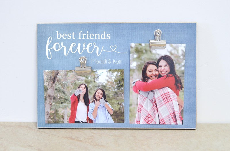 best friend photo clip frame, gift for best friends, personalized