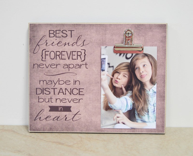 going away gift for best friend, best friends forever photo frame