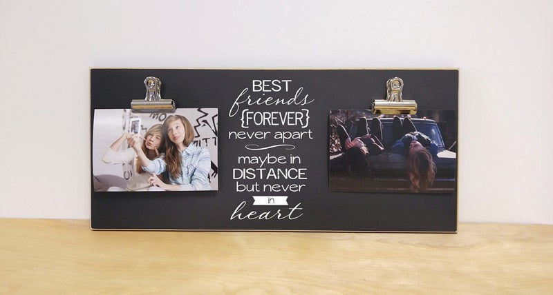 best friends forever chalkboard photo frame gift for bff, best friend gift, housewarming gift, moving away gift for best friend