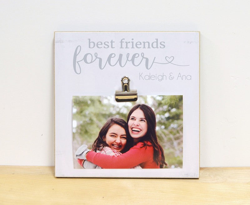 best friends forever photo frame, gift for bff, gift for best friends