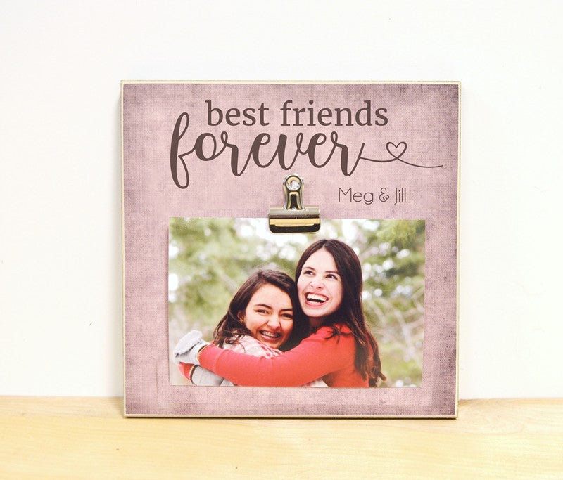 friendship gift, best friends forever personalzied photo frame