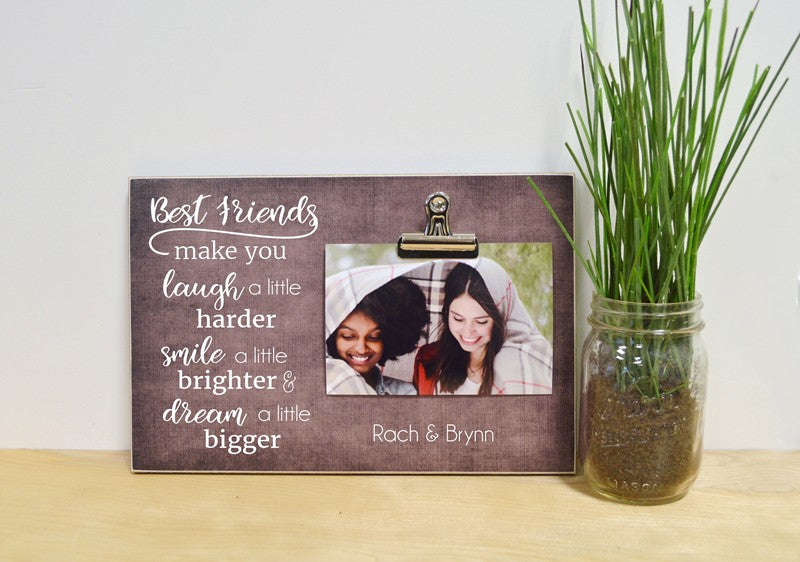 best friend photo frame, gift for best frined