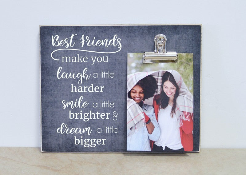 best friend gift, best friends picture frame, photo clip frame