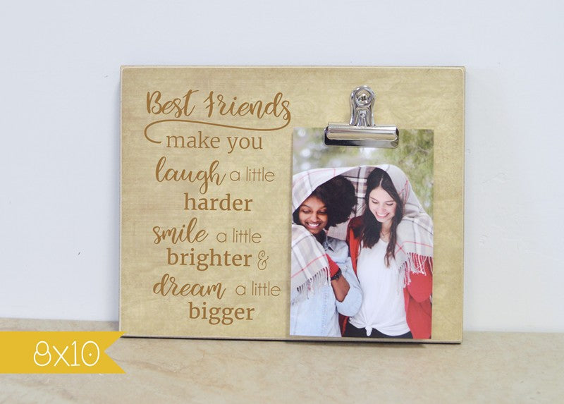 best friends picture frame, christmas gift for best friend