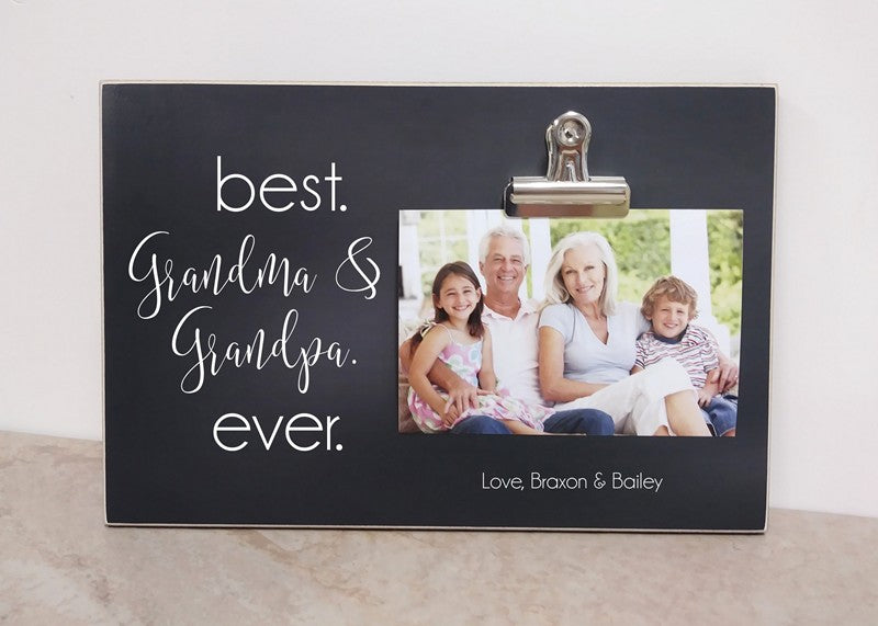 best grandma and grandpa ever photo frame