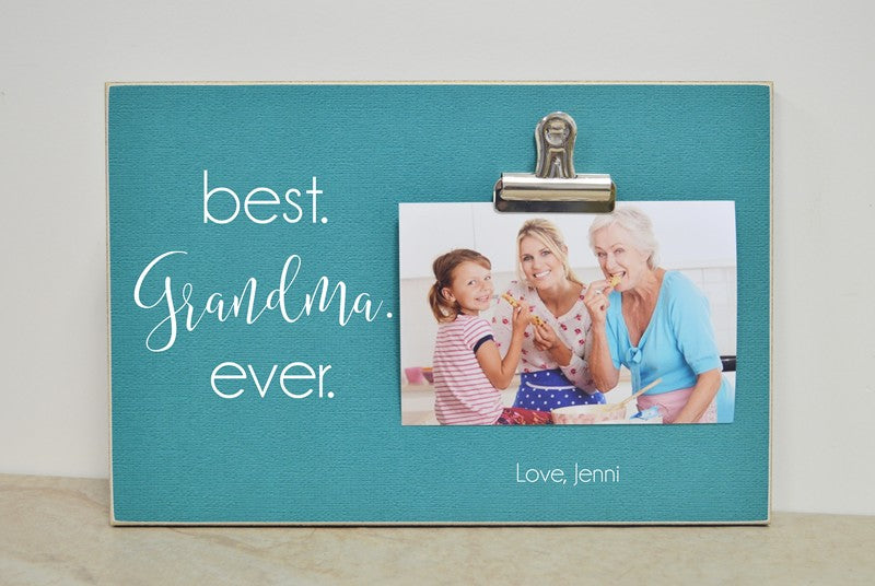 best grandma ever picture frame mother's day gift for grandma