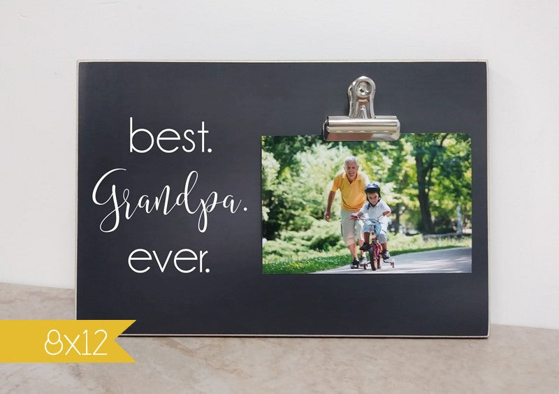 Best. Grandpa. Ever. Custom Photo Frame