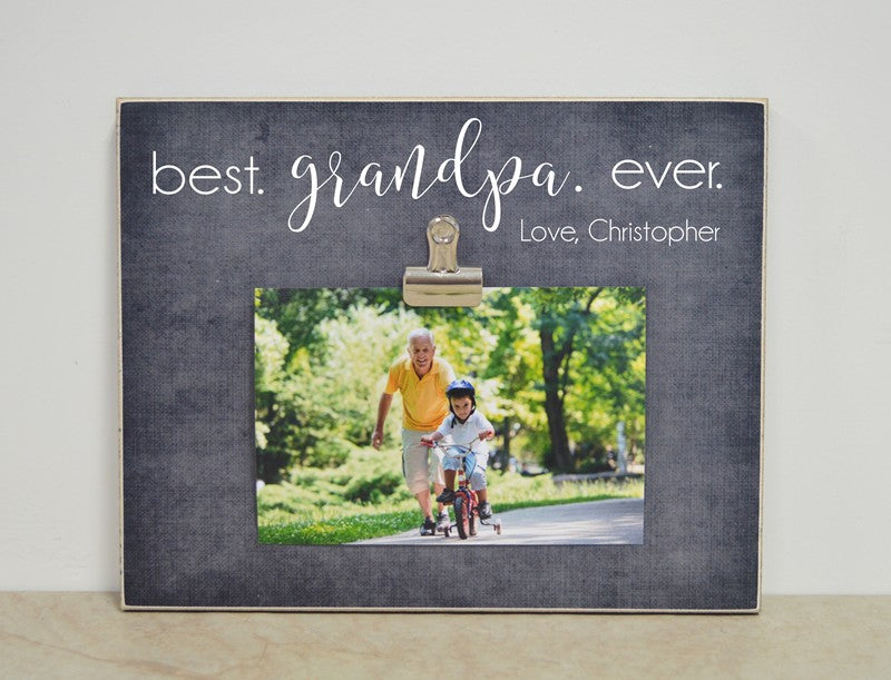 best grandpa ever photo frame gift for grandpa