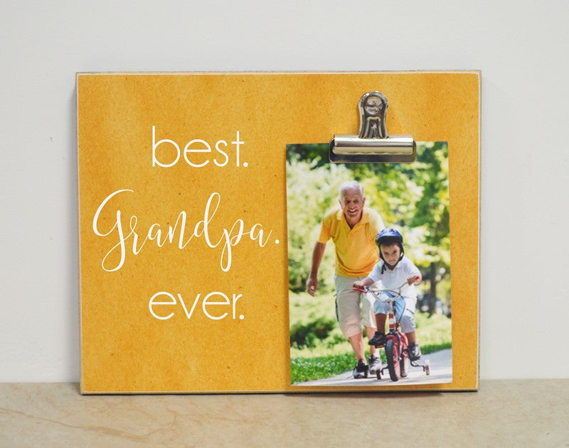 grandparents day gift, gift for grandpa, personalized picture frame , custom photo frame