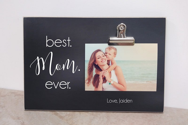 best mom ever personalized picture frame