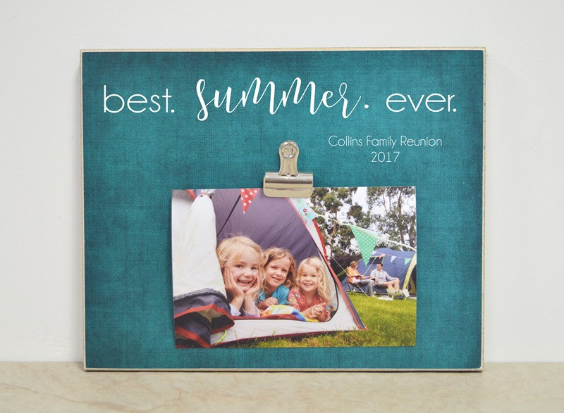 vacation photo frame, best summer ever, personalized picture frame