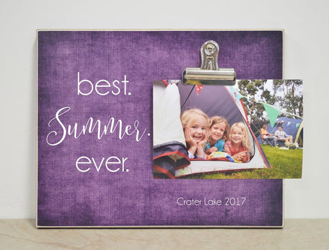best summer ever vacation memories frame