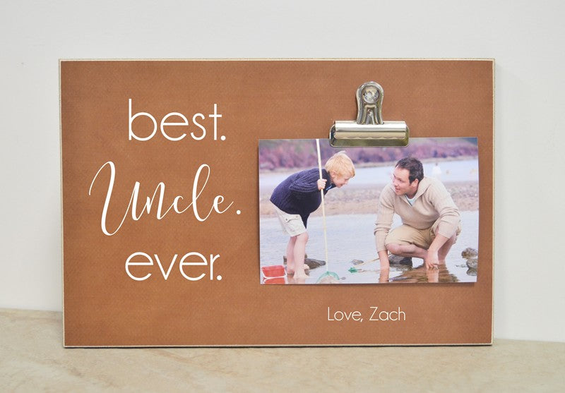 uncle gift, gift for uncle, personalized photo frame best uncle ever