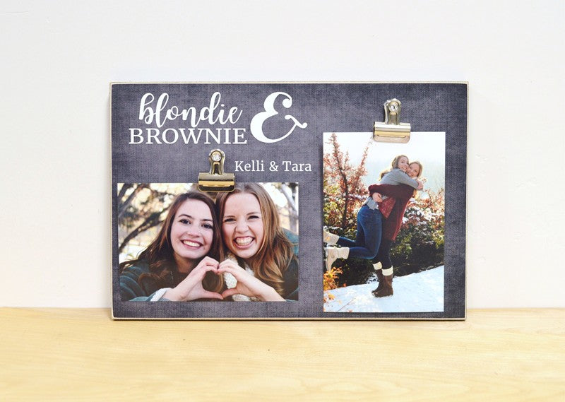 personalized best friend gift for best friend, blondie and Brownie