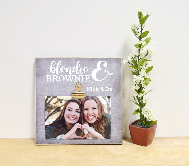blondie and brownie frame, friendship frame, best friends frame personalized gift for friends
