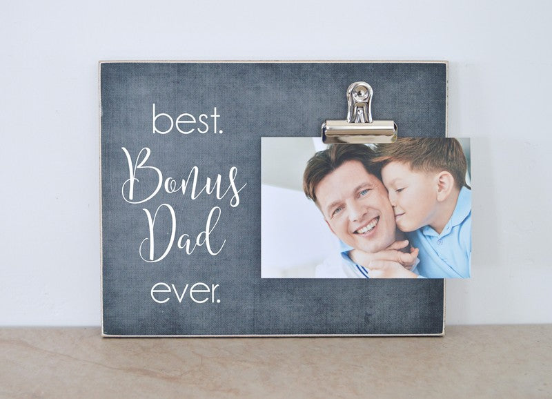 best bonus dad ever, stepda photo frame