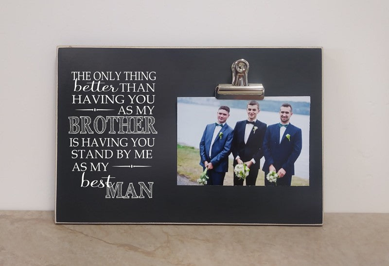 thank you gift for best man, best man picture frame