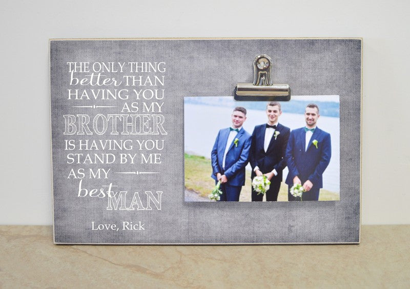 brother best man personalized photo frame
