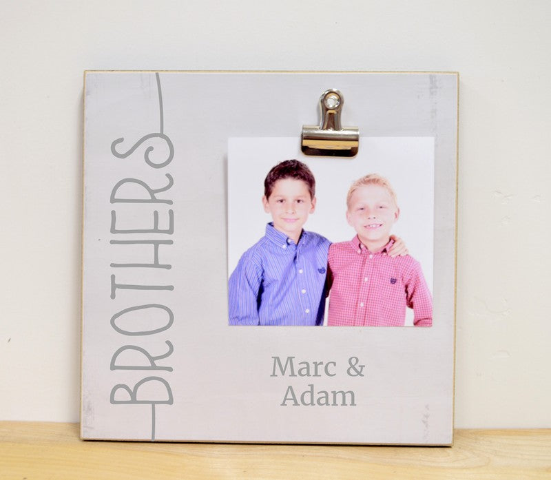 Brothers, Personalized Photo Frame