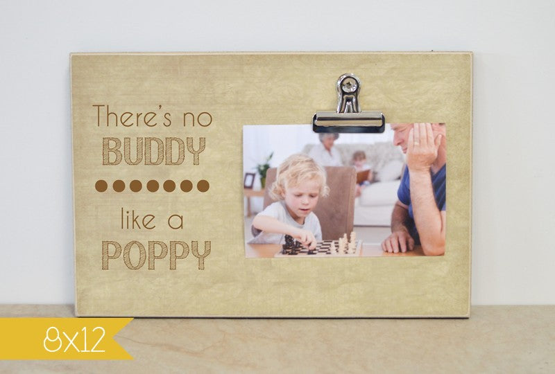 There's no buddy like a grandpa picture frame, gift for grandpa, custom photo frame, personalized gift for grandpa, grandpa gift, papa gift,