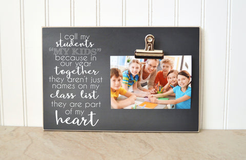 teacher appreciation gift, teacher gift, teacher photo frame, photo clip frame, gift for teacher, picture frame class gift