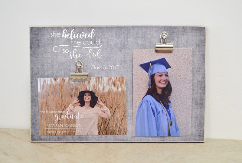 she believed she could so she did graduation frame