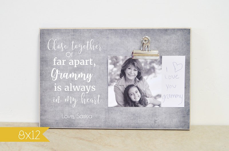 grandma photo frame gift for grandma, always in my heart