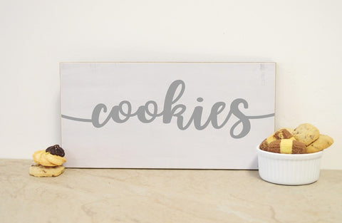 cookies sign for wedding or baby shower decor