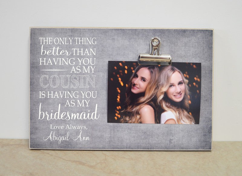 personalized bridesmaid gift picture frame