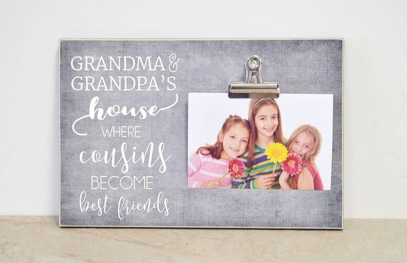 gray photo frame gift for grandparents grandma and grandpas house photo frame