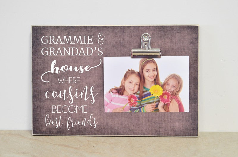 personalized grandparent photo frame, custom picture frame gift for grandparents