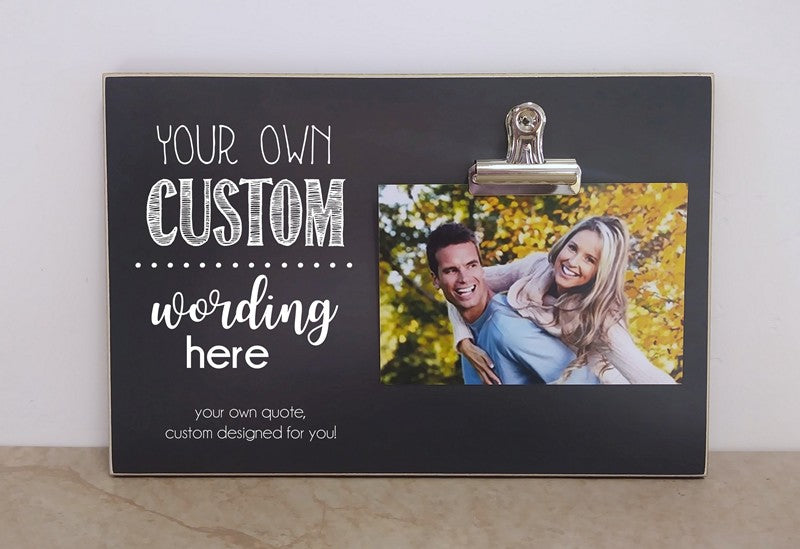 personalized gift for couples, custom designed photo frame, design your own