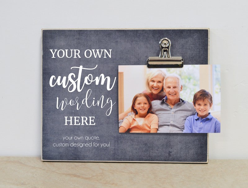 custom photo frame for grandparents, design your own picture frame