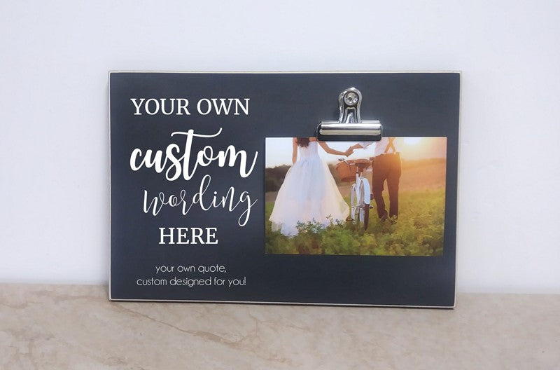 custom designed wedding photo frame  design your own picture frame gift