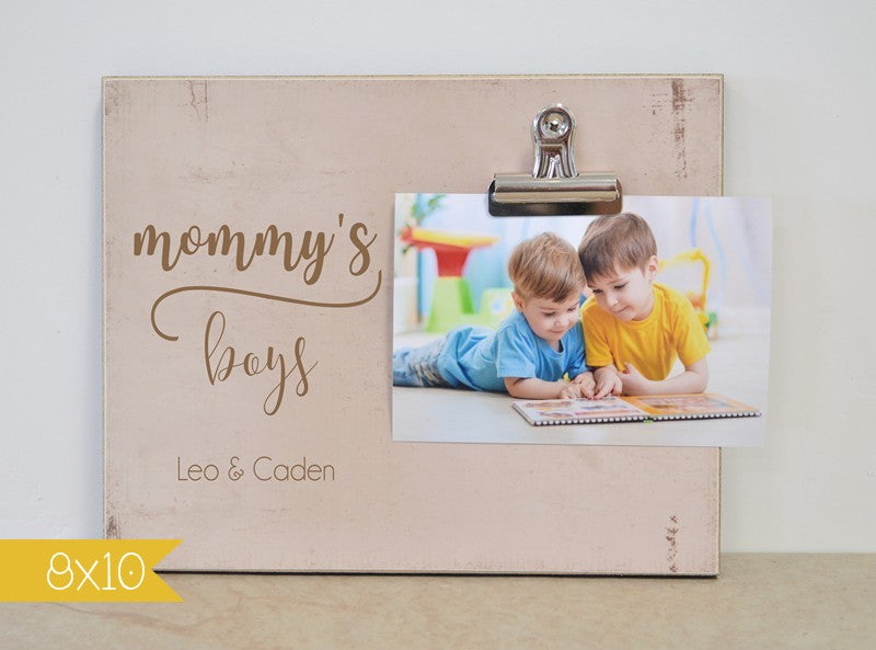 Mommy's Boys Photo Frame