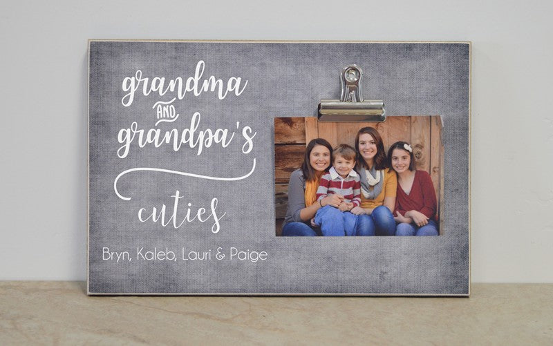 grandma and grandpas cuties frame 8x12