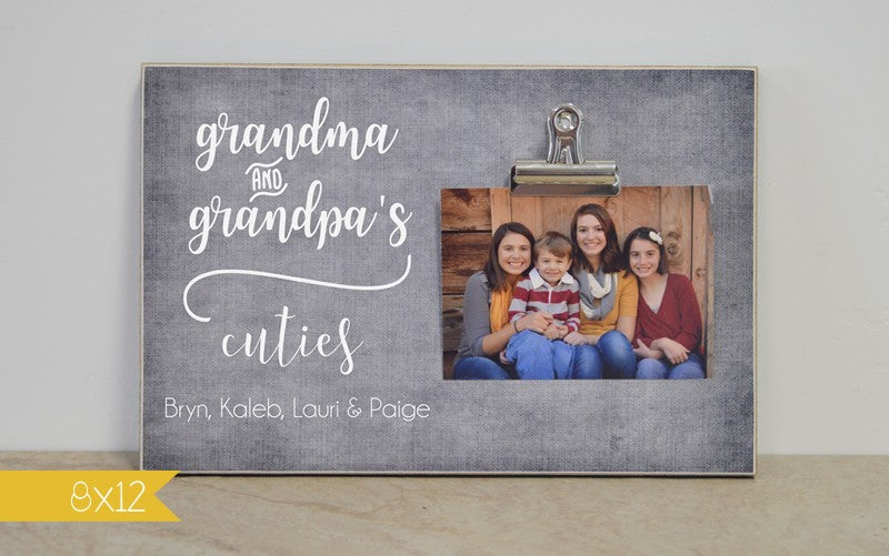 Grandma and Grandpa's Cuties Photo Frame