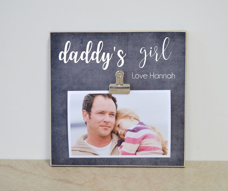daddys girl photo frame gift for dad
