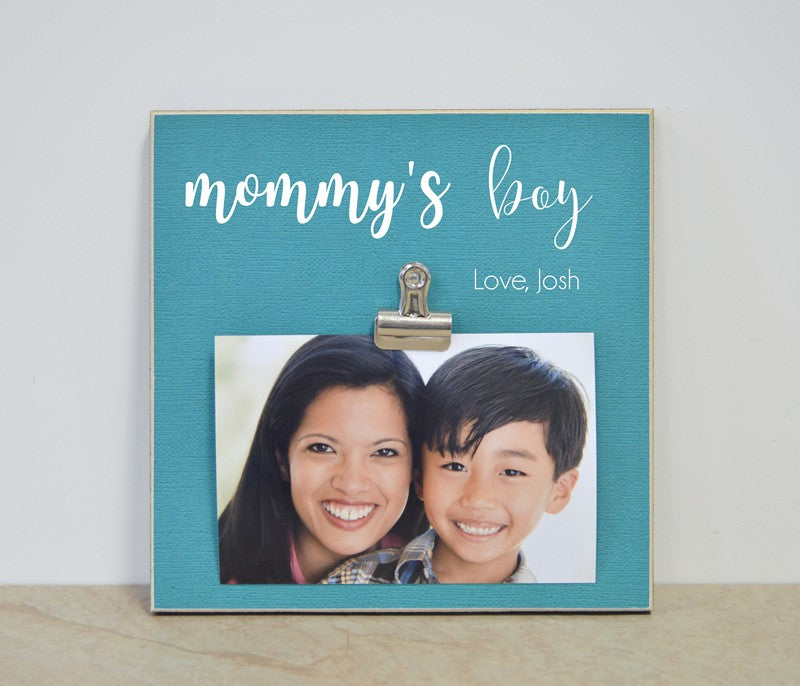 Mommy's Boys Photo Frame Mother's Day Gift